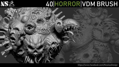 Zbrush - Horror VDM Brush