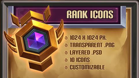 Fantasy Rank Icons