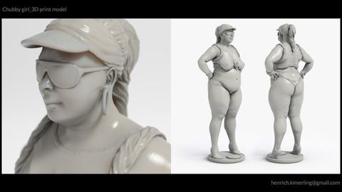 Chubby girl_3D print model