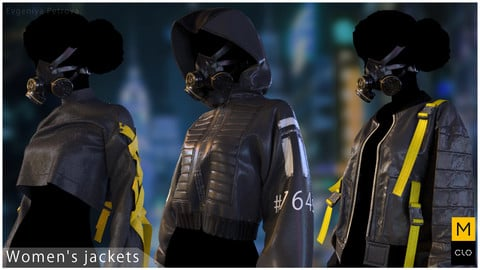 Women's jackets. Clo3d, Marvelous designer project.