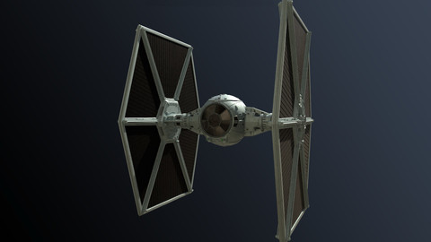 Star Wars Tie Fighter (Hight Poly).