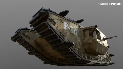 Mark IV Tank 1915 (Hight Poly)
