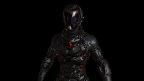 Armored Man - Low Poly / PBR