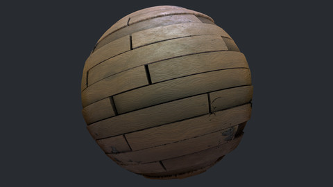 Procedural Wood Laminate Floor Material - Substance Designer