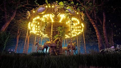 Ornate Carousel / Merry go round Model