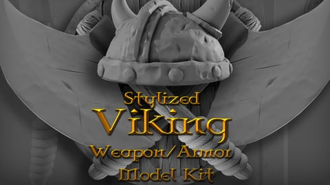 Stylized Viking  Weapon / Armor Model Kit