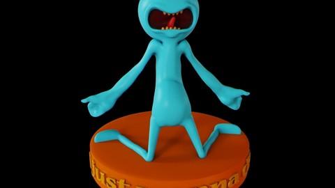 Meeseeks 3D print model