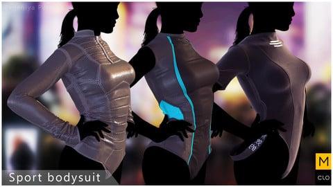 Sport bodysuit. Clo3d, Marvelous Designer