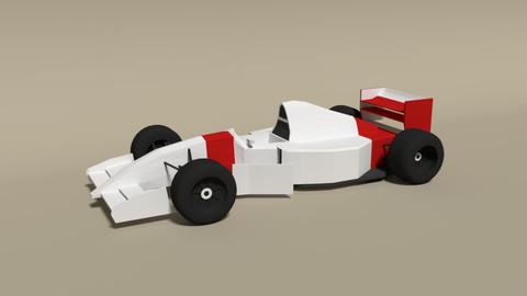 Low Poly McLaren MP4-8 Formula Car