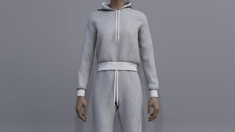 3D female joggers - Sweatshirt and Sweatpants
