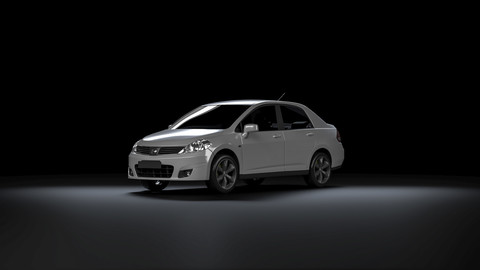 Nissan Tiida for Vray in 3ds Max