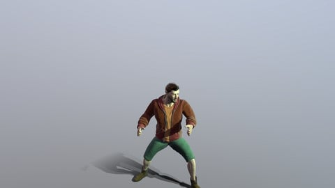 Human rig and animation Game ready model
