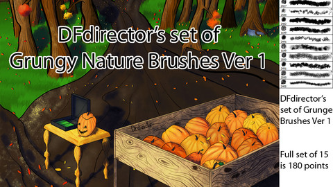 DF's Grungy Nature Brushes Ver 1 (CS5+)