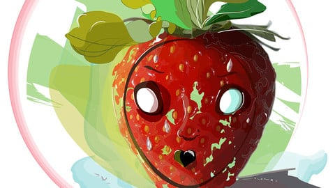 cute free png illustration red strawberry by adobe  illustrator