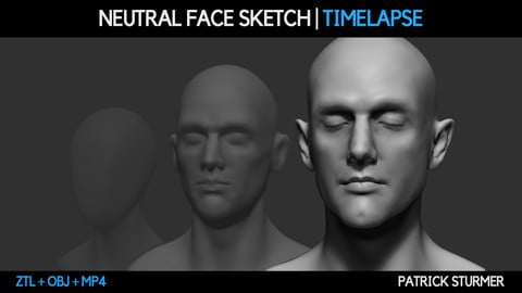 Neutral Face Sketch And Timelapse