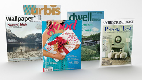 Collection of magazines 3D models.