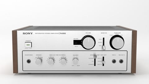 Sony TA-2650 Integrated Stereo Amplifier 3D model.