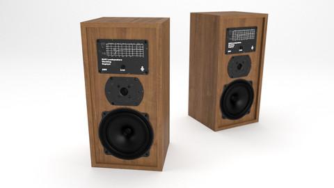 B & W vintage speaker 3D model.