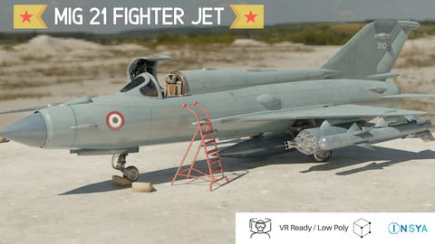 MiG 21 - Rigged & Animated - with Interior - M2