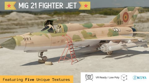 MiG 21 - Rigged & Animated - with Interior - M4