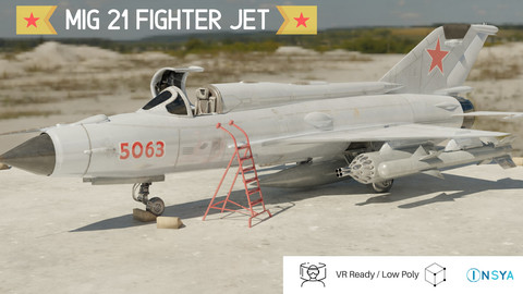 MiG 21 - Rigged & Animated - with Interior - M5