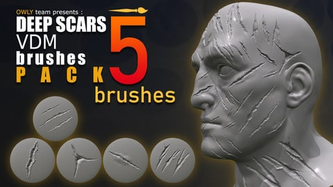 DEEP SCARS VDM's - brush pack - 5 brushes - 1024x1024