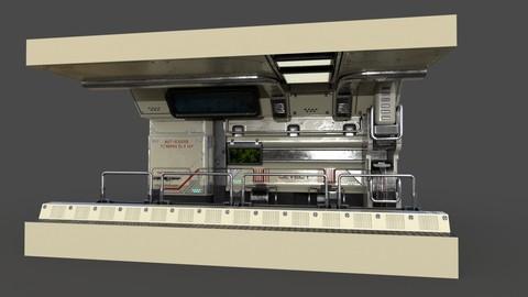 Sci-fi corridor modular