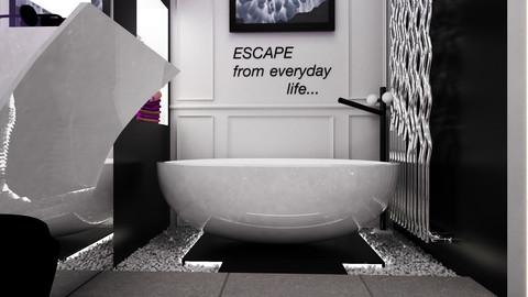 INTERIOR BATHROOM SCENE