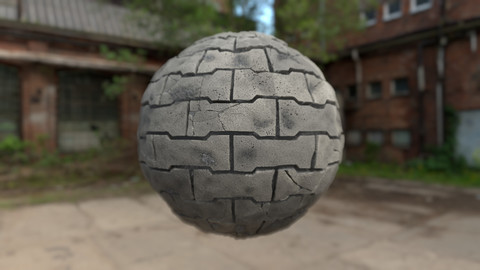 Full Procedural Street Tile Blocks Material/Texture