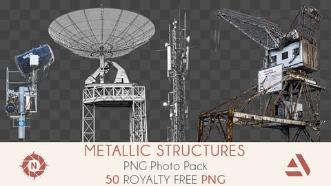 PNG Photo Pack: Metallic Structures