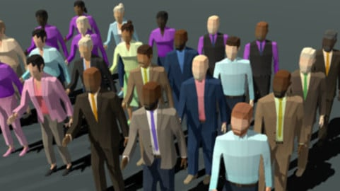 Low Poly Business people + Blueprint + Script - Unity and UE4