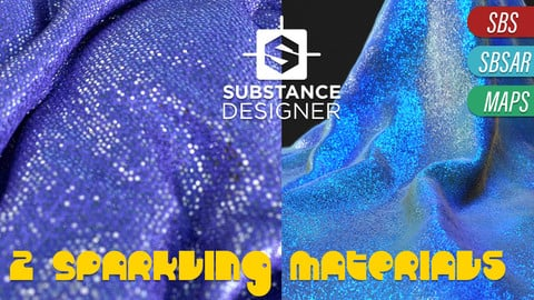 Sparkles - 2 Substance Designer Project and texture