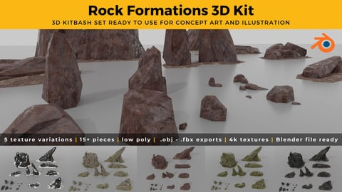 Rock Assets - Low Poly - Textured