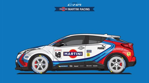 TOYOTA CH-R MARTINI VERSION/Digital File Vector