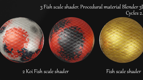Fish Scale Shader. Procedural Material Blender 3d. Cycles 2.8.