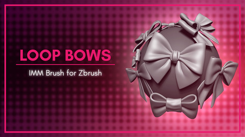 [IMM Brush] Loop Bows Brush for Zbrush 2019