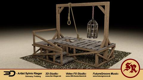 Medieval giutine / scaffold / gallows