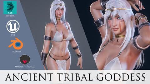 Ancient Tribal Goddess - Game Ready