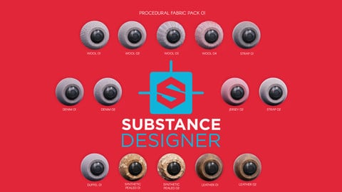 Substance Designer Procedural Fabric Pack 01