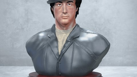 ROCKY BALBOA BUST FILE STL and OBJ FOR ALL PRINTERS 3D SYLVESTER STALLONE DOWNLOAD