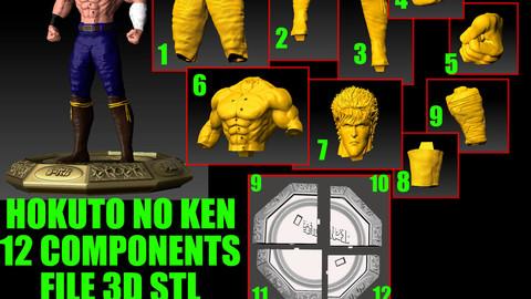 HOKUTO NO KEN KENSHIRO KEN IL GUERRIERO 3D PRINTER DOWNLOAD STL 3D print model