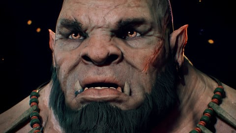 Orc head skin texturing Tutorial with Substance painter