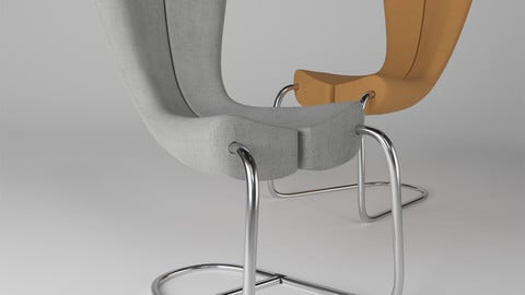 Komed Chair By Marc Newson 3D model
