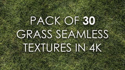 Pack of 30 Grass Seamless Textures in 4K