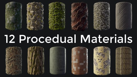 12 Procedual Substance Designer Materials Collection