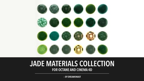 Jade Materials Collection (For Octane and Cinema 4D)