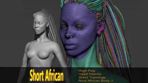 Short African BaseMesh (Highpoly)