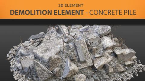 Demolition Elements - Concrete Pile