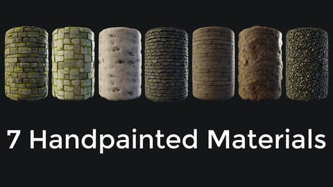 7 Handpainted Materials Collection