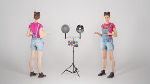 Young girl in denim is posing 103
